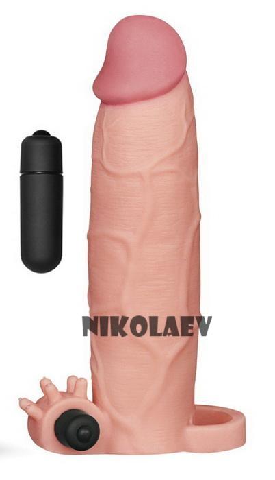 Насадка на член Pleasure X Tender Vibrating Penis Sleeve Add 3 Lovetoy (LV1066)