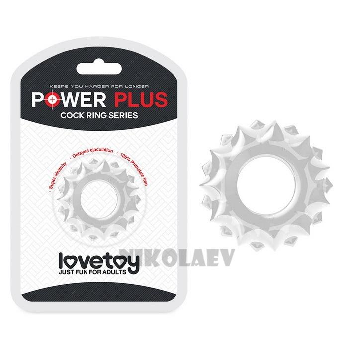 Эрекционное кольцо Lovetoy POWER PLUS Cockring Clear