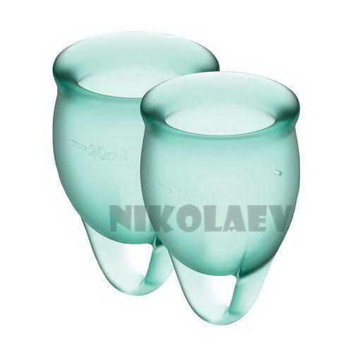 Набор менструальных чаш Satisfyer Feel Confident dark green 15 и 20 мл