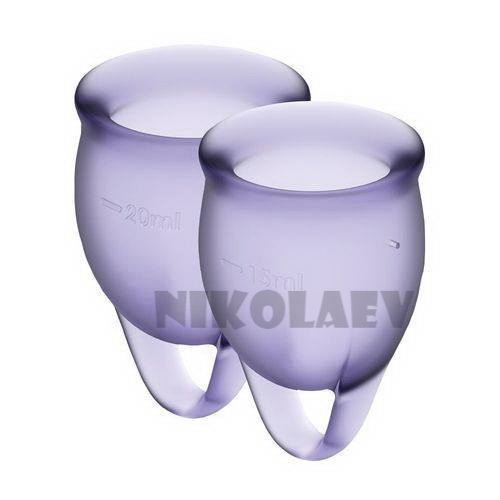 Набор менструальных чаш Satisfyer Feel Confident lila 15 и 20 мл