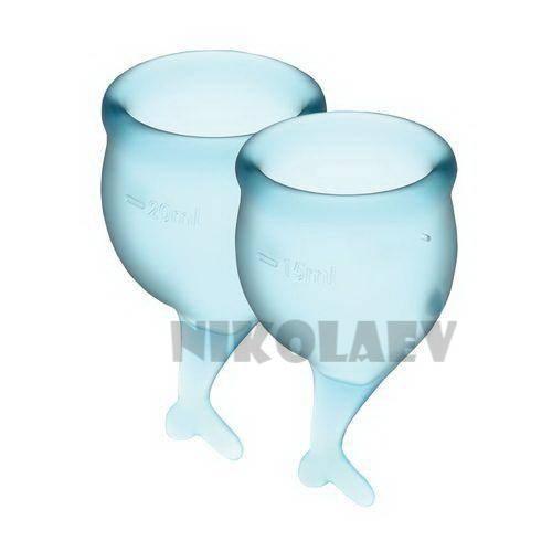 Набор менструальных чаш Satisfyer Feel Secure light blue 15 и 20 мл